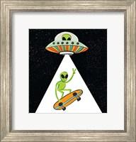 Framed UFO Alien