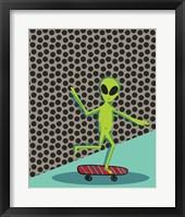 Framed Skating Alien