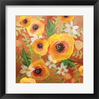 Framed Yellow Roses