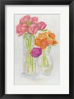 Framed Flowers in Vases