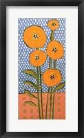 Framed Orange on Polka Dots