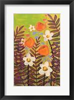 Framed Orange Floral