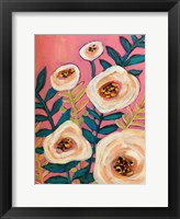 Framed White Flowers on Pink
