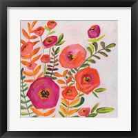 Framed Flowers and Leaves