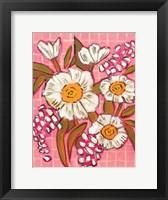 Framed Flowers on Grid