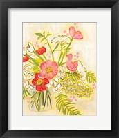 Framed Flowers on White