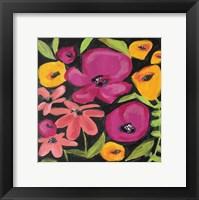 Framed Flowers on Black