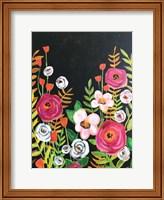 Framed Flowers on Black II