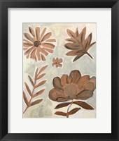Framed Brown Flowers