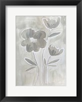 Framed Grey Flowers