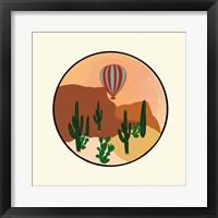 Hot Air Desert Framed Print