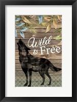 Framed Wild Wolf