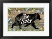 Framed Wild Bear