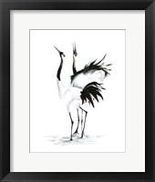 Framed Dancing Bird Pair II