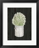 Herbs on Black II Framed Print