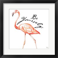 Be Different Flamingo II Framed Print