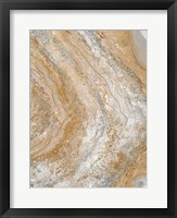 Cool Earth Marble Abstract II Framed Print