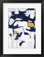 Golden Blue Shatters II Framed Print