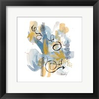 Dreaming In Gold And Blue II Framed Print