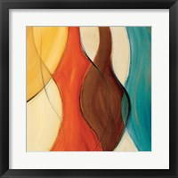 Coalescence II (brown/yellow/teal) Framed Print