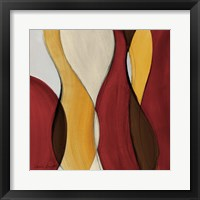Crimson Coalescence I Framed Print