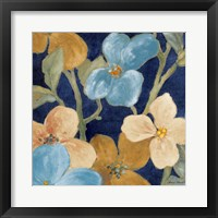 Blue Garden Party I Framed Print