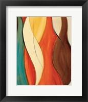 Orange Coalescence I Framed Print