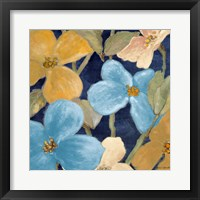 Blue Garden Party II Framed Print
