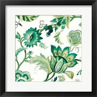 Green Capri Floral I Framed Print