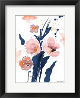 Watercolor Pink Poppies I Framed Print