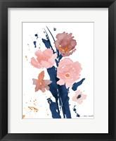 Watercolor Pink Poppies II Framed Print