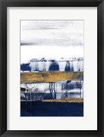 Midnight Gold Rain I Framed Print