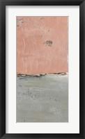 The Blushing Edge Panel I Framed Print
