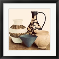 Decorative Beige Vessels I Framed Print