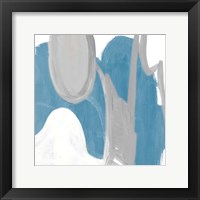 Catching The Tempo Blue II Framed Print