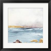 Along The Golden Coast I Framed Print
