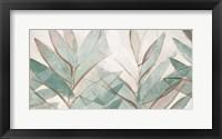 Framed Teal Palms