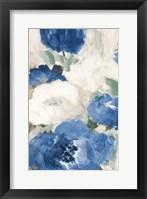 Blue Flower Power I Framed Print