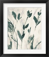 Green Misty Leaves I Framed Print