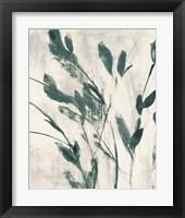 Green Misty Leaves II Framed Print