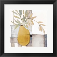 Golden Afternoon Bamboo Leaves I Framed Print