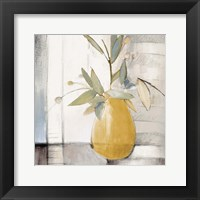 Golden Afternoon Bamboo Leaves II Framed Print