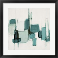 Teal Cityside II Framed Print