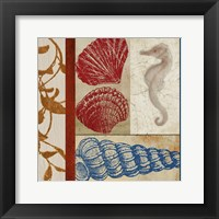 Nautical Surroundings Squares II Framed Print