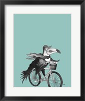 What a Wild Ride on Teal II Framed Print