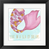 Live In A Sea Of Dreams Framed Print