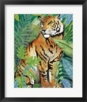 Tiger In The Jungle II Framed Print