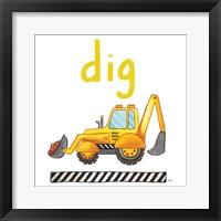 Dig Framed Print