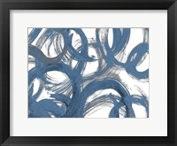 Framed Blue and Gray Strokes