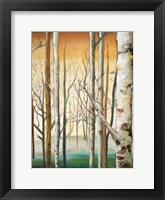 Framed Gold Birch Forest II